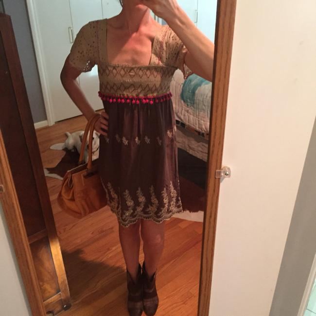 Free People short dress Multi colored Bohemian Brown on Tradesy Image 1