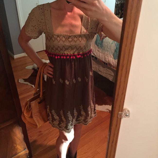Free People short dress Multi colored Bohemian Brown on Tradesy Image 2