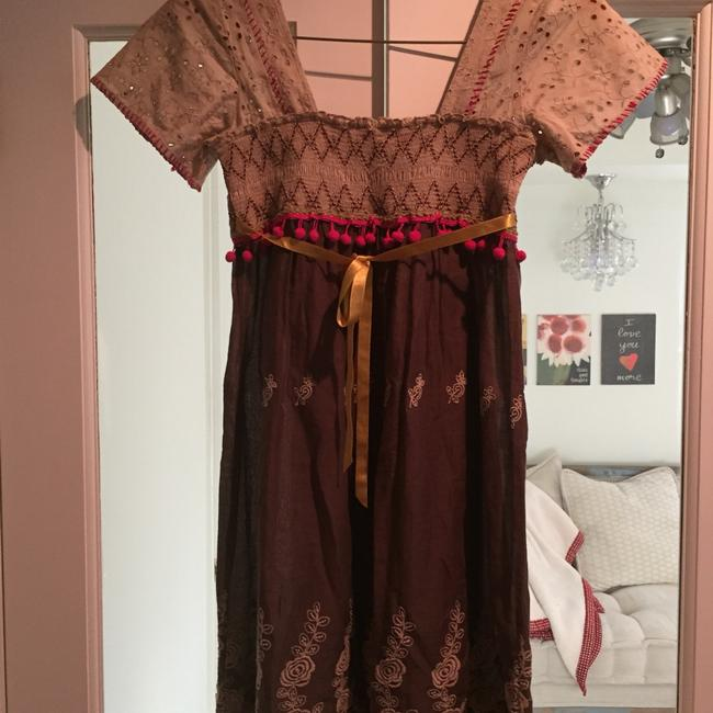 Free People short dress Multi colored Bohemian Brown on Tradesy Image 4
