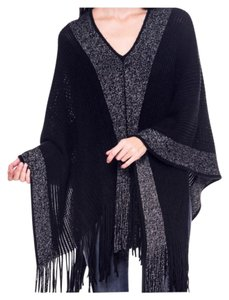 Other Boho Cardigans Fringe V-neck Color Cape