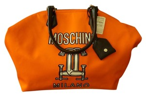 Moschino Icon Logo Italian Couture Tote in Orange