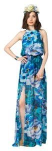 blue and green Maxi Dress by Show Me Your Mumu Maxi Bridesmaid Floral