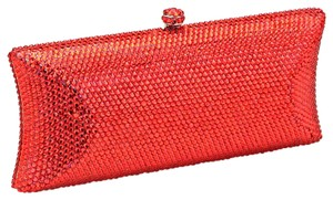 Other Red , Rhodium Clutch