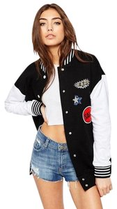 ASOS Bomber Oversized With Badges Multi-color Jacket