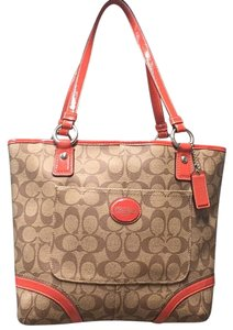 Coach Tote in Tan and Brown