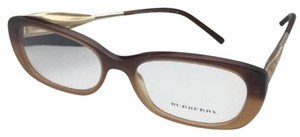 Burberry New BURBERRY Eyeglasses B 2203 3369 54-17 Brown Fade To Amber & Gold