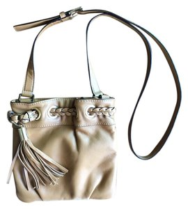 Michael Kors Leather Gold Hardware Cross Body Bag