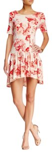 BCBGeneration short dress Red Floral Boho Date Night on Tradesy