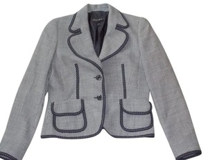 Escada Button Blue and White Blazer