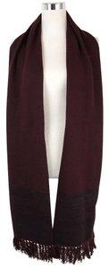 Bottega Veneta $990 Bottega Veneta Burgundy Cashmere Leather Long Scarf 298569 6060