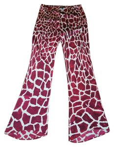 Roberto Cavalli Animal Print Silk Pants