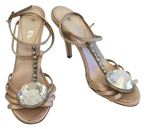 Chanel Crystal Heels Wedding Blush Sandals