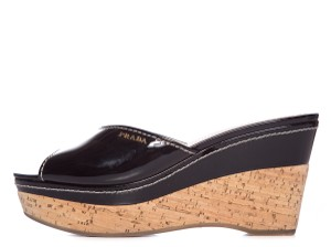 Prada Black & Cork Sandals