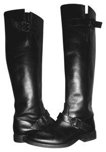 Studio Pollini Leather Knee-high Black Boots