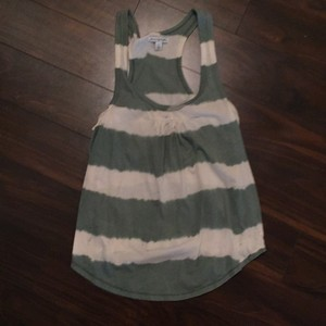 American Eagle Outfitters Top green and ivory