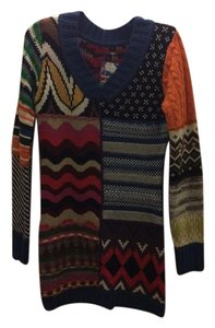 Desigual short dress Multi Patchwork Sweater on Tradesy