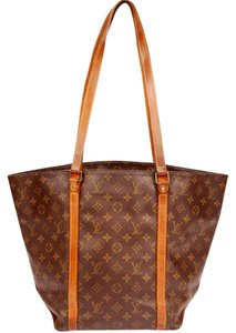 Louis Vuitton Sac Sac Shopping Neverfull Tote in Brown