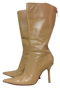 Jimmy Choo Leather Mid-calf Beige Boots