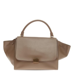 Cline Celine Leather Satchel in Brown