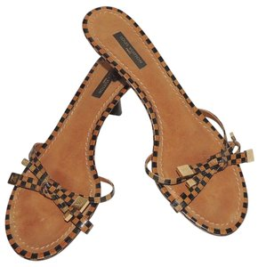 Louis Vuitton Black and Brown Sandals