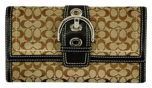 Coach Soho Buckle Signature Jacquard Trifold Wallet & Checkbook