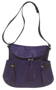 Maxx New York Purple Fringe Hobo Bag