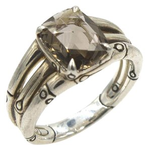 John Hardy John Hardy Batu Bamboo Smoky Quartz Ring New Without Tags