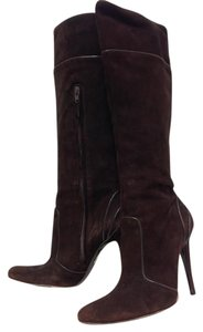 Fendi Suede Knee High Brown Boots