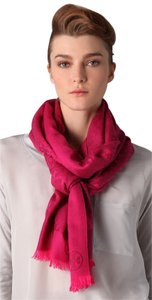 Tory Burch Allover T Scarf in Love Pink