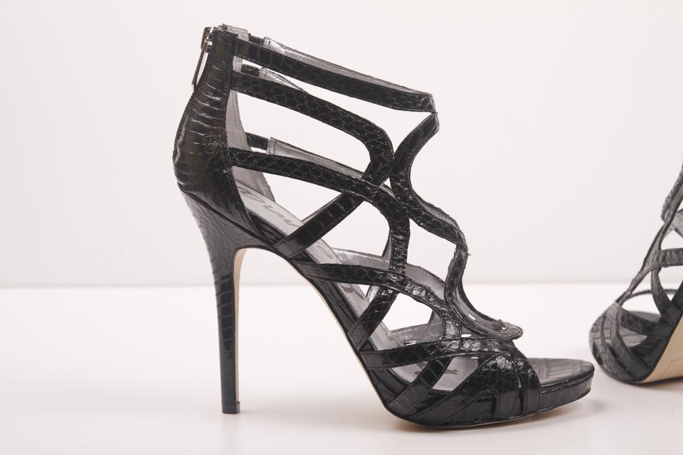 41ccc57b7d1b Sam Edelman Black Eden Caged Strappy Heels Sandals Size US 8.5 ...