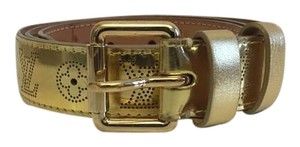 Louis Vuitton Louis Vuitton Miroir Perforated Belt in Gold