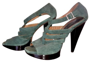 Marni Dark green and black Platforms
