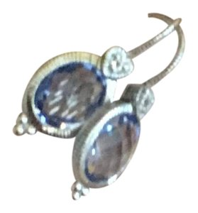 Judith Ripka Judith Ripka mini blue stone earrings.