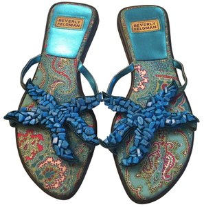 Beverly Feldman Blue Sandals