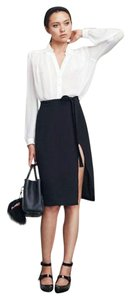 Reformation Wrap Wrap Skirt Black