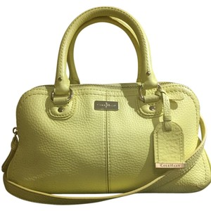Cole Haan Satchel in Yellow/Gold Hardware