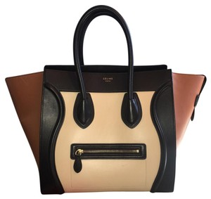Céline Tote in Black, Ivory, Light Brown