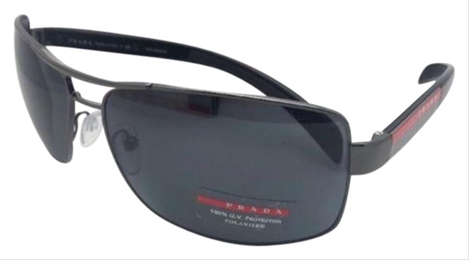 d74036ed2c527 Prada Polarized PRADA Sports Sunglasses SPS 54I 5AV-5Z1 Gunmetal w  Grey  Image 0 ...