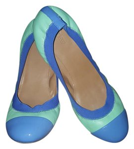 J.Crew Leather Ballet Classic Mint Green & Periwinkle Blue Flats