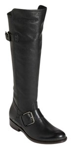 DV by Dolce Vita Leather Equestrian Black Boots
