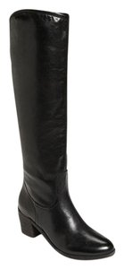 Sam Edelman Leather Knee High Equestrian Black Boots