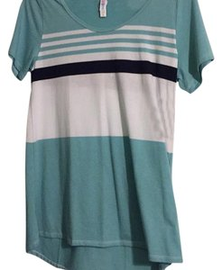 LuLaRoe T Shirt Blue and white striped