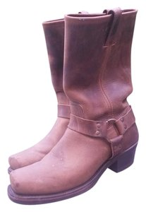 Frye Motorcycle Boot Harness Brown Boots