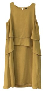 Banana Republic short dress Mustard yellow on Tradesy
