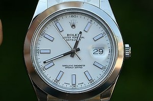 Rolex Rolex Mens Datejust Ii Stainless Steel 116300 41mm Smooth