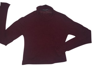 Brandy Melville Crop Sweater Turtleneck Top Maroon