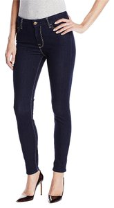 7 For All Mankind High Waisted Skinny Jeans-Dark Rinse