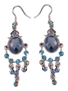 Beautiful Blue Crystal Ear Rings