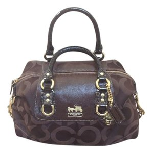 Coach Madison Signature Satchel in Brown