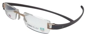 TAG Heuer New Rimless TAG HEUER Eyeglasses TH 7101 009 51-18 135 Gold & Brown
